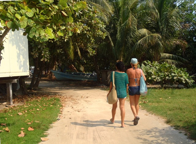 walking around caye caulker island