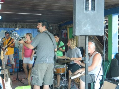 sunday jam at crazy canucks beach bar