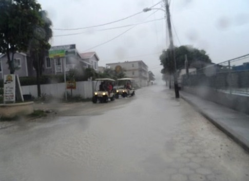 san pedro belize weather is very wet.
