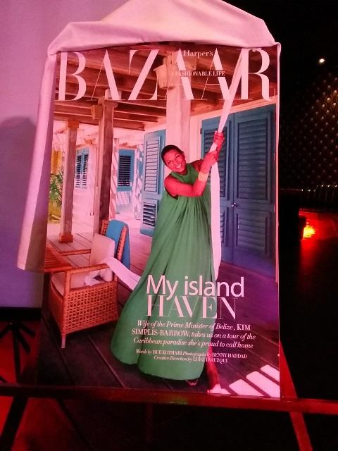kim simplis barrow and belize in harper's bazaar magazine
