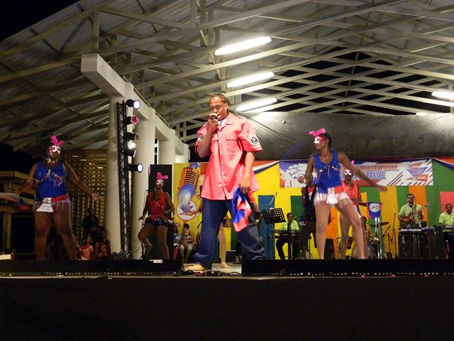 talented belizean artists at the belize national song competition memorial park belize city