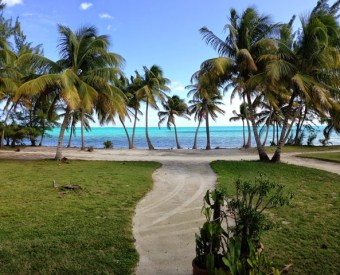 caribbean sea view at caye chapel