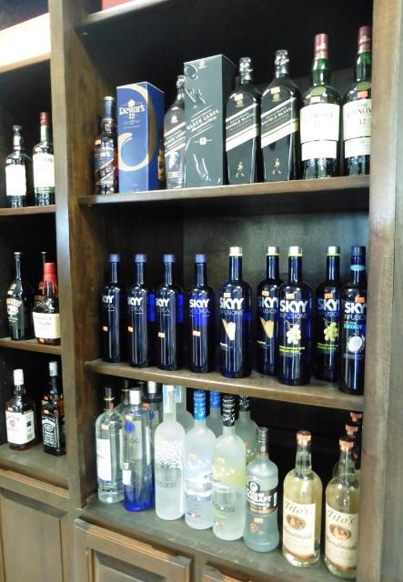Wall of liquor