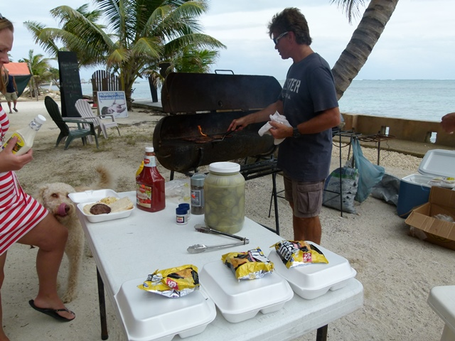 George cooking burgers for a great cause by Jane West