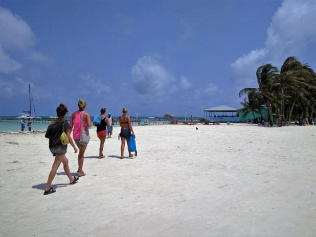 Caye Caulker Belize beach expansion
