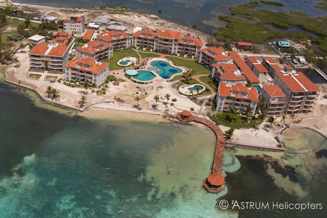Grand Caribe Belize aerial after Hurricane Earl