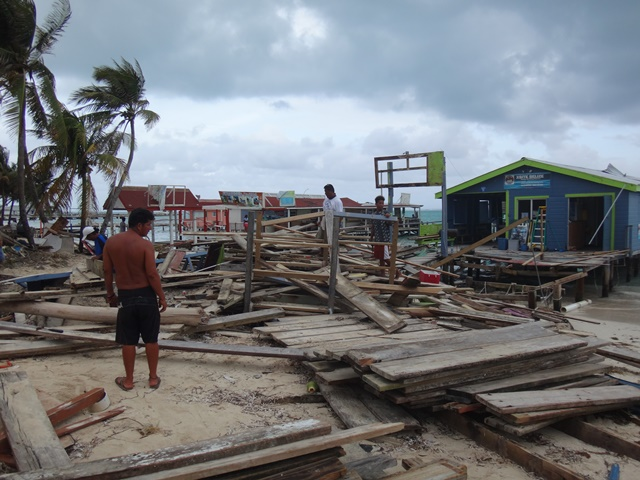 San Pedro Belize after Hurricane Earl