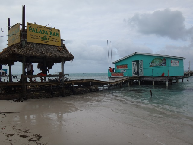 Palapa Bar Belize after Hurricane Earl