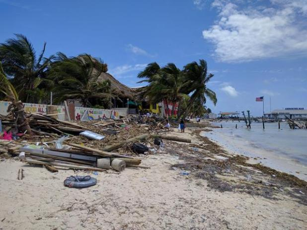 San Pedro Belize after Hurricane Hearl