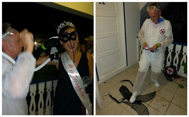 Holiday Hotel annual Halloween party San Pedro Belize