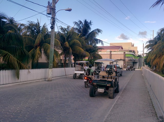 Driving in San Pedro Belize