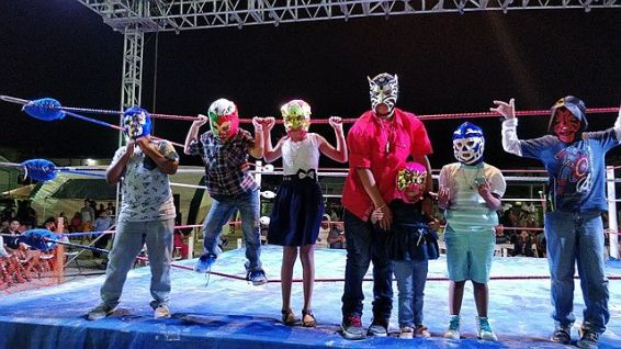 Fathers Day Mexican Wresteling Show