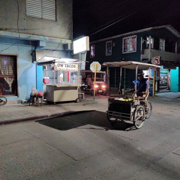 I feel safe walking around San Pedro Belize at night