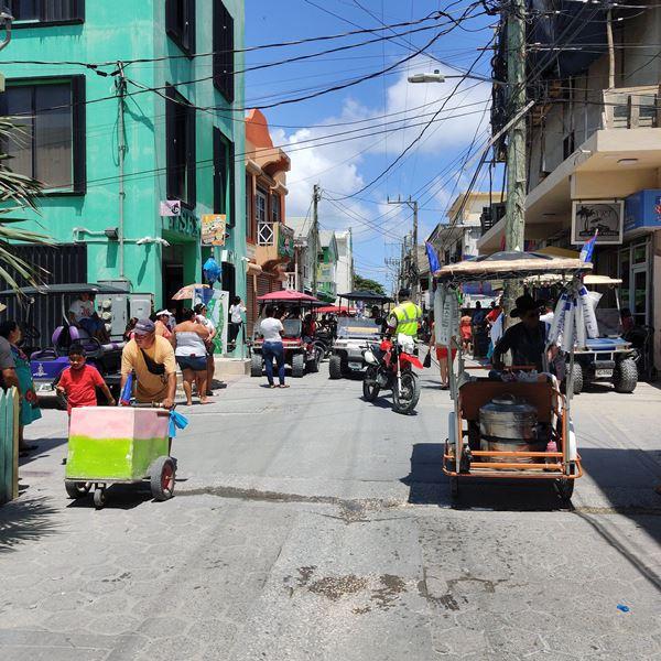 Middle Street downtown San Pedro Belize