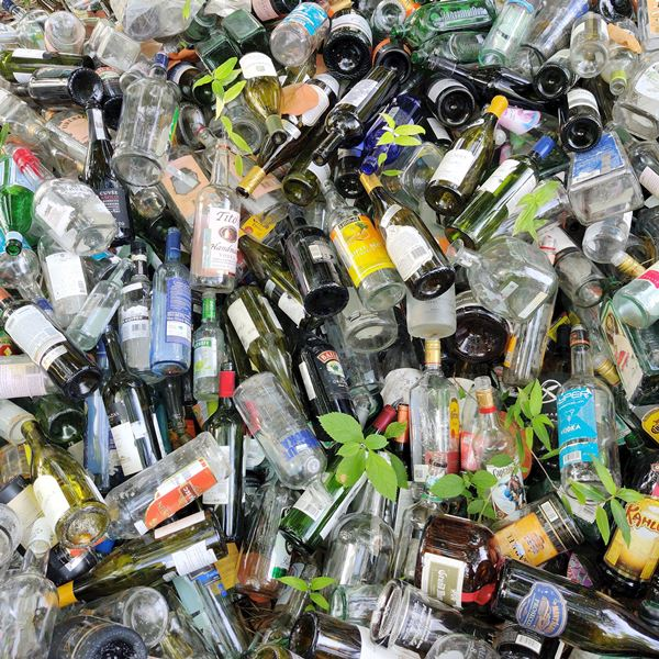 Glass recycling in Belize