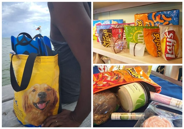 Recycled bags by 12 Belize Shop