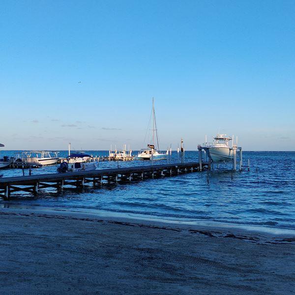 Walking the beach - Belize in December