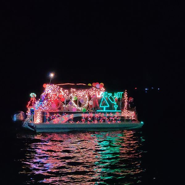 Christmas lighted San Pedro boat parade
