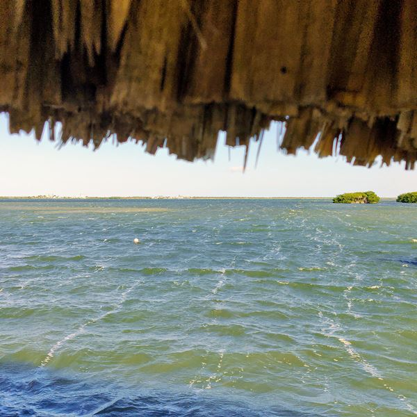 Windy with a small craft warning January in Belize