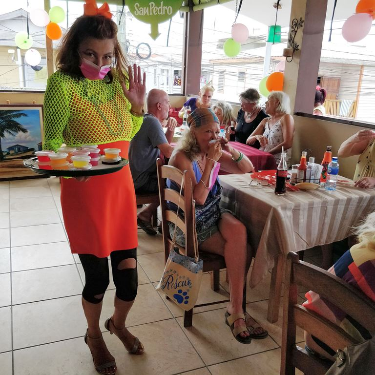 complimentary jello shots saga humane society fundraiser iguana juan's