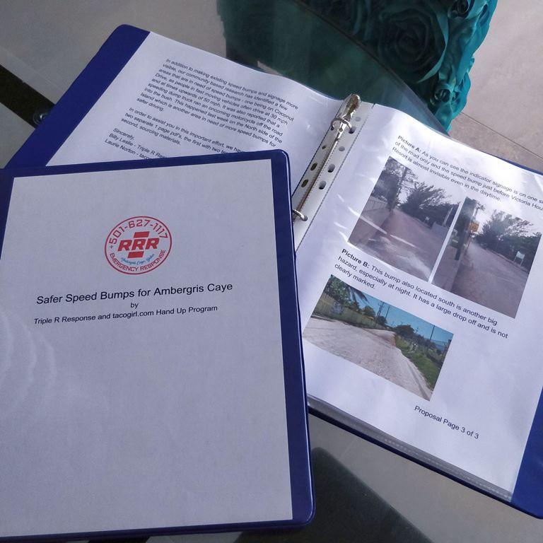 san-pedro-ambergris-caye-traffic-safety-proposal-triple-r-tacogirl-hand-up-program