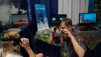 Russ Glaeser demonstrating Infinite Scuba virtual reality
