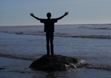 boy at ocean
