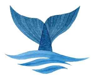 OF whale icon logo