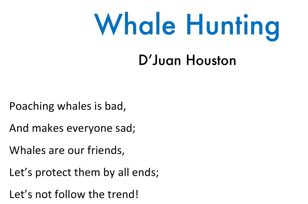 whale hunting poem