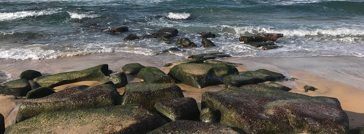 rocky sandy beach
