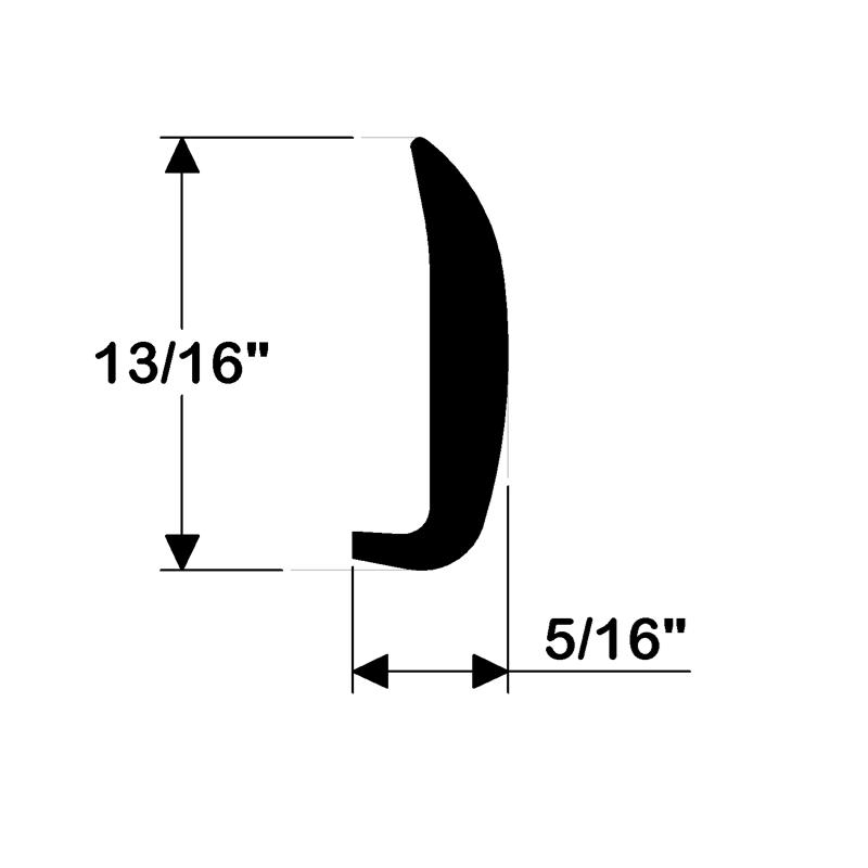 Taco Marine. V25-0786: 13/16'' x 5/16'' Edge Moulding