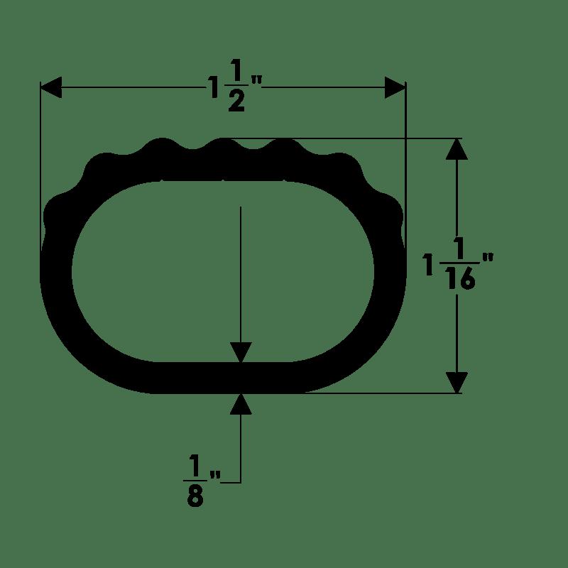 Taco Marine. A42-0195: Oval Step Thread Pipe 1-1/2'' Width