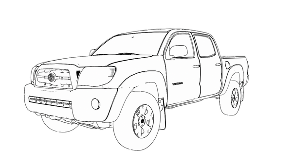 Toyota hilux drawing
