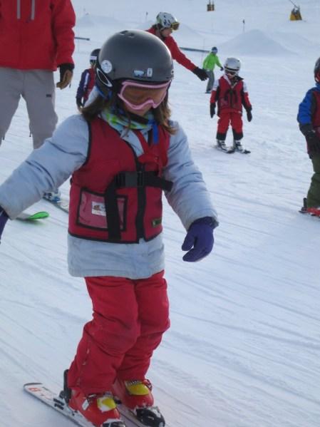 Skiing the big slopes