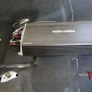 Toyota Camry under seat amp installation exile audio Javelin