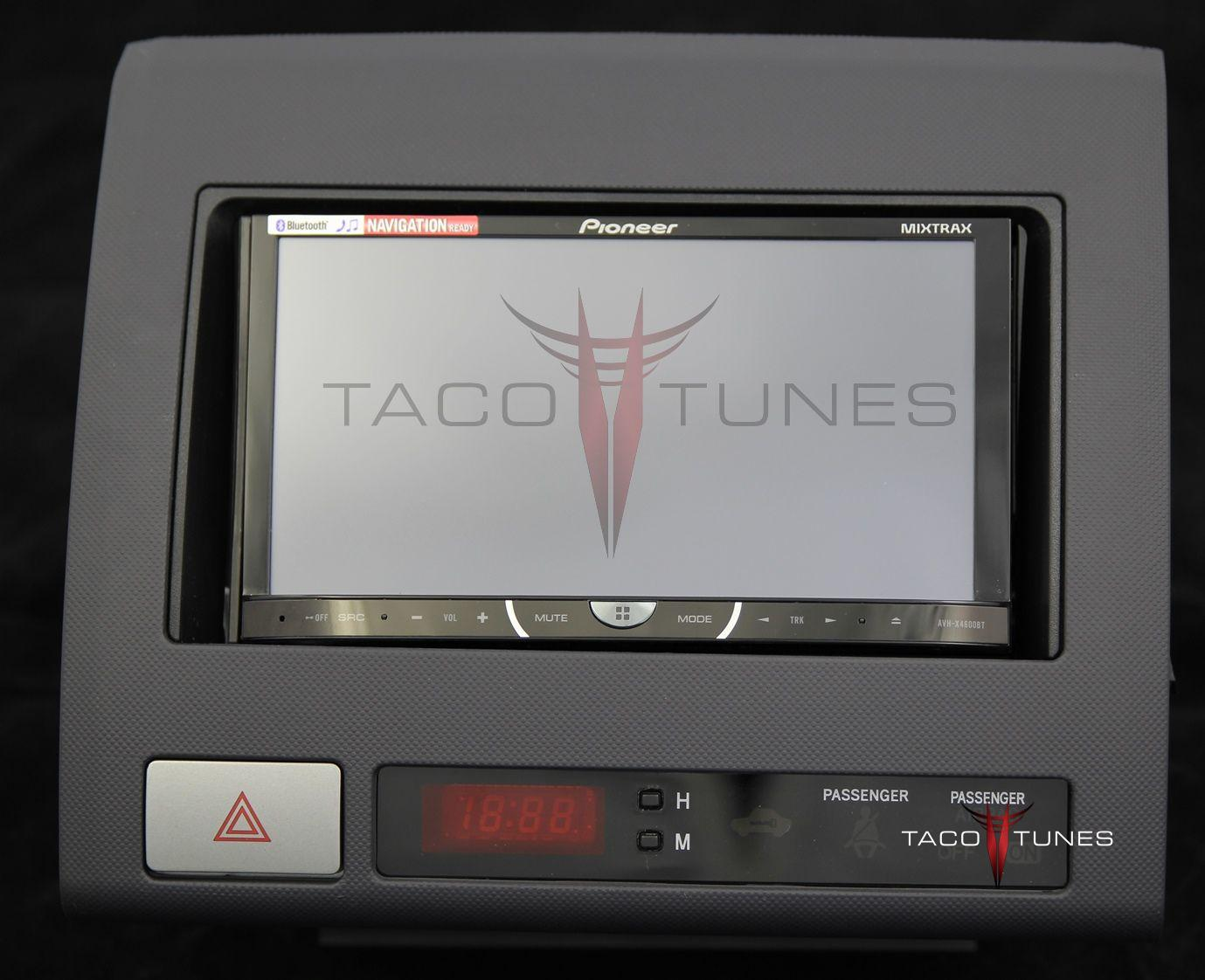 hight resolution of toyota tacoma black 2005 dash stereo installation kit