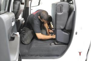 Steve's Toyota Tundra CrewMax tacotunes plug and play audio system