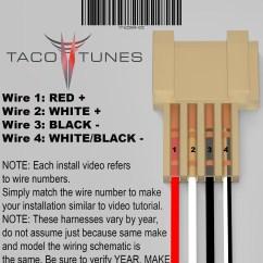 Toyota 4runner Trailer Wiring Diagram Emg 1 Volume 3 Way Switch Speaker Harness Great Installation Of 2010 2020 Tweeter Adapter Rh Tacotunes Com Highlander