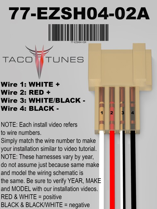 small resolution of the leads wires are 36 long and made with heavy 16 gauge wiring our plug and play amps will work with most after market head units stereos as well