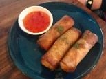 Stir fried greens spring rolls