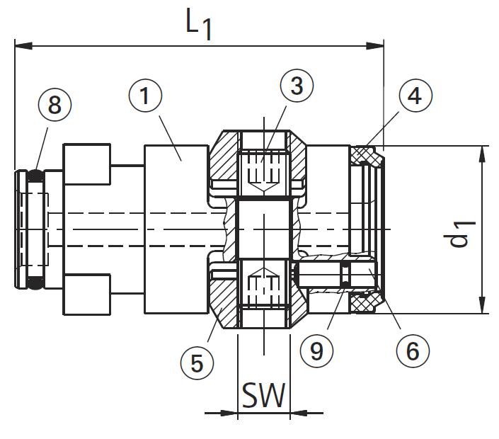 HSK-A/C 50 KS Clamping Cartridges (Standard)