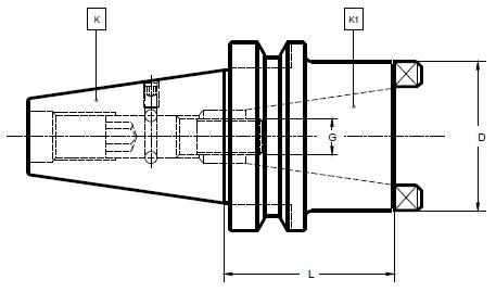 Laip Steep Taper (MAS 403 BT) to Steep Taper (DIN 2080