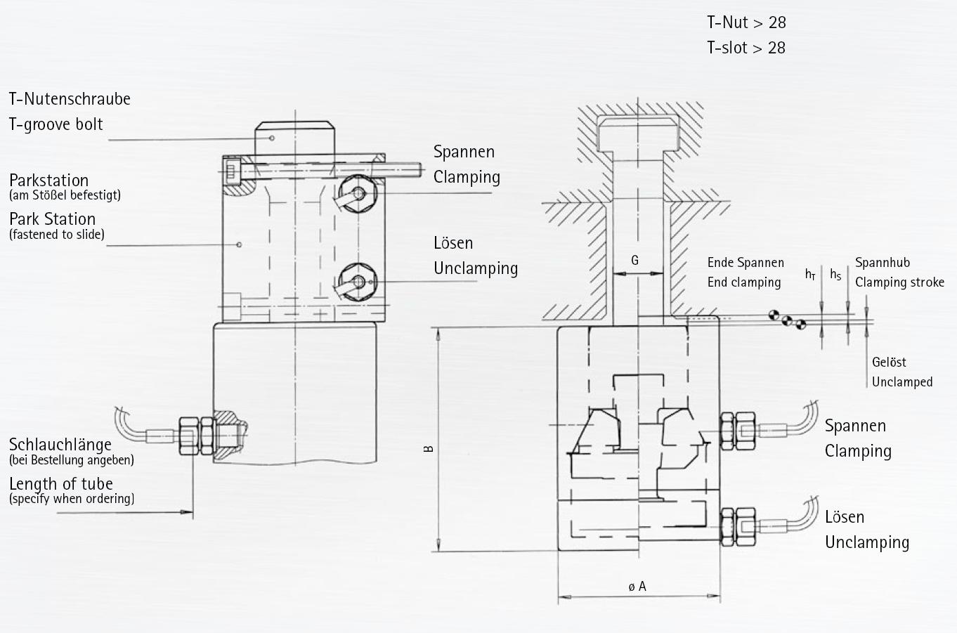 BERG Manual Hydro-mechanical Self-locking Drawbar Style