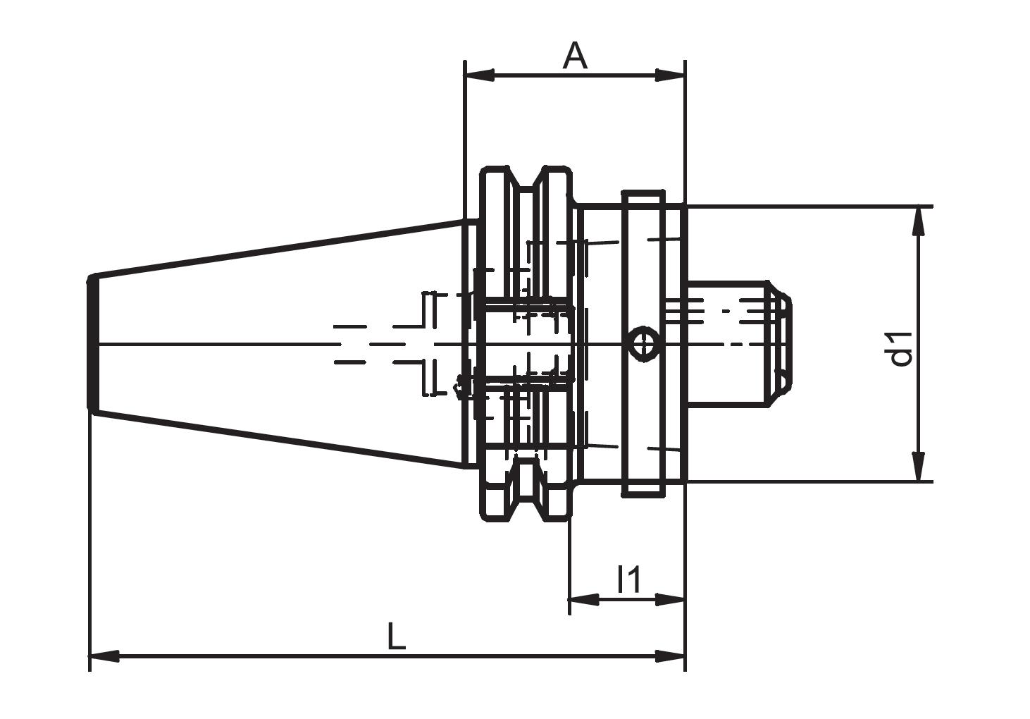 Steep Taper (MAS 403 BT) 40 (MAS 403 BT) to HSK Adapters