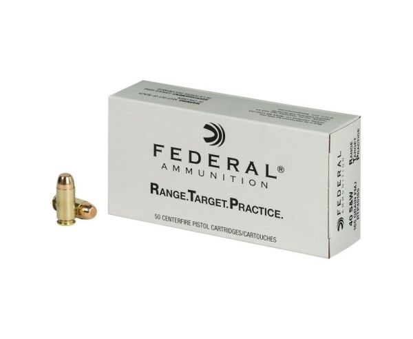 Federal Range & Target Ammo .40 SW Full Metal Jacket 165 GR