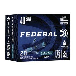 Federal Syntech Defense Brass .40 SW 175 Grain 20-Rounds SJHP