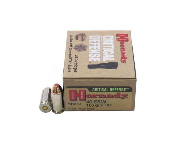 Hornady Critical Defense .40S&W 165GR FTX 20rds