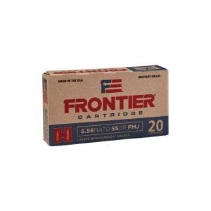 Hornady Frontier Cartridge Rifle Ammo Brass 5.56 20-Rounds 55 Grain FMJ