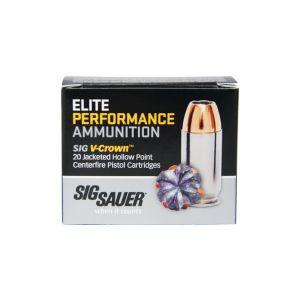 Sig Sauer Elite Performance 9MM 124GR V-Crown JHP 20Rds