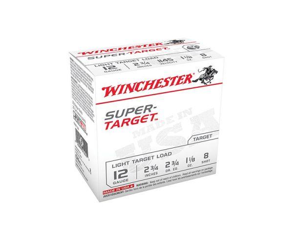 Winchester Super Target 12GA 2.75-inch 1-1/8oz #8 Shot 25Rds